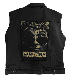 """Ministry Al Jourgensen 13.5"""" x 10.5"""" Color Backpatch"""