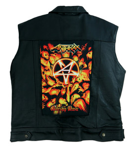 "Anthrax Worship Music 13.5"" x 10.5"" Color Backpatch"