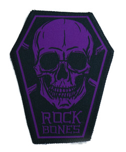 "Go Rocker - Rock Bones in Purple 6.75x3.5"" Coffin Patch"