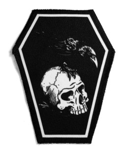 "Skull & Raven 6.75x3.5"" Coffin Patch"
