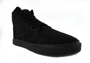 Black Canvas Chukka Vegan Unisex Sneakers * LAST IN STOCK *