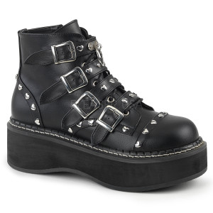 Womens Buckle Strap Ankle Boot by Demonia