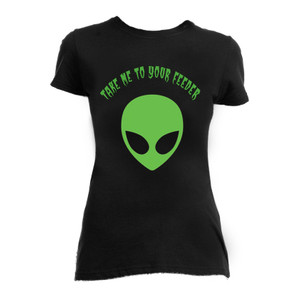 Take Me To Your Feeder Alien Blouse Shirt