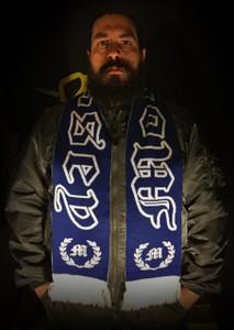 "Morrissey - Logo 58x9"" Blue Scarf"
