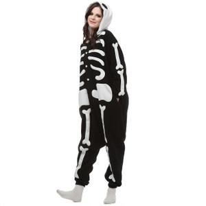 Skeleton Kigurumi Adult Size Onesie