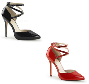 """5"""" D'Orsay Pump with  Criss Cross Ankle Strap by Pleaser"""