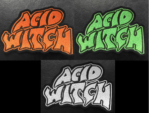 """Acid Witch 4x2.5"""" Embroidered Patch"""
