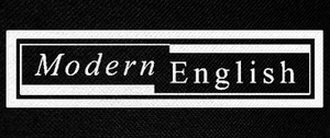 "Modern English Logo 9x4"" Printed Patch"