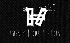 "Twenty One Pilots Stencil Logo 5x4"" Printed Patch"