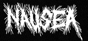 "Nausea Logo 7x4"" Printed Patch"