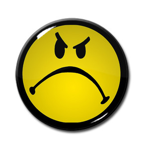 "Mad Smiley 1.5"" Pin"