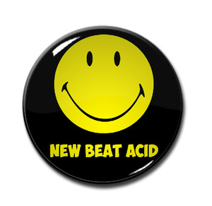 "New Beat Acid - Smiley 1.5"" Pin"