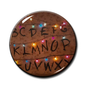 """Stranger Things - Wall Letters 1.5"""" Pin"""