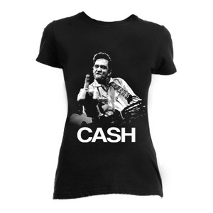 Johnny Cash Finger Up Girls T-Shirt