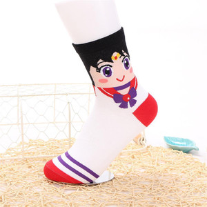Sailor Moon - Mars Crew Sock