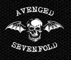 "Avenged Sevenfold Bat Skull 5x4"" Printed Patch"
