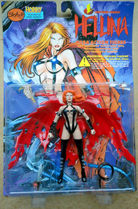 Hellina With Torn Battle Cape Mega Action Figure