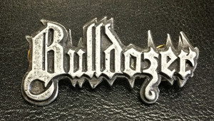 "Bulldozer - Logo 2"" Metal Badge Pin"