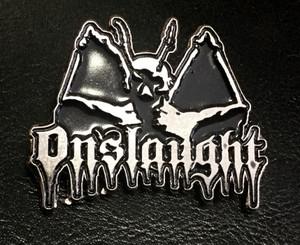 "Onslaught - Demon 3"" Metal Badge Pin"