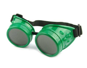 Plain Welding Goggles - Camo Green