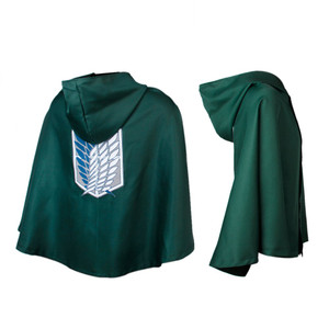 Attack On Titan Green Shingeki Cape