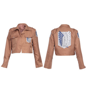 Attack On Titan Kakhi Jacket Cosplay