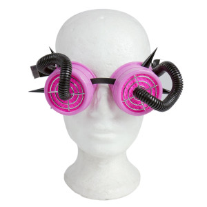Goggles - Pink and Black Tubes