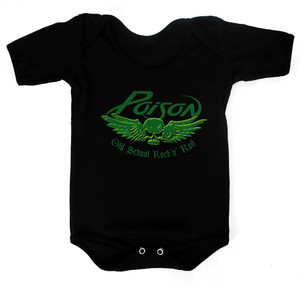 Baby Onesie - Poison - Old School Rock N Roll