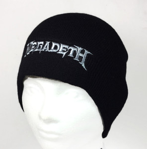 Megadeth Logo Embroidered Knit Beanie