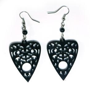 Black Ouija Planchette Earrings