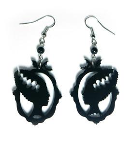 The Bride Black Acrylic Earrings