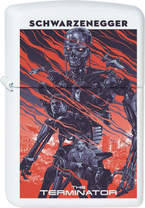 Terminator Poster White Lighter
