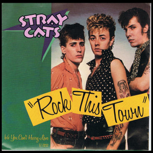 "Stray Cats - Rock This Town 4x4"" Color Patch"