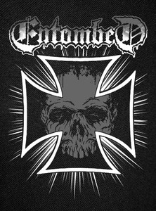 Entombed Skull Backpatch 12x15