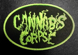"Cannabis Corpse Logo 4x3"" Embroidered Patch"