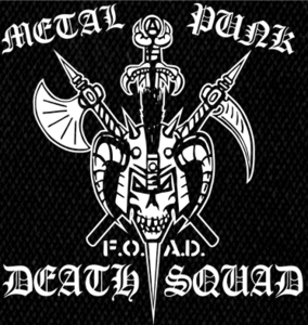 "Metal Punk Deathsquad  Logo 5x6"" Printed Patch"