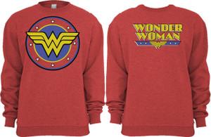 Wonder Woman Logo Crew Neck Sweatshirt