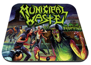 """Municipal Waste The Art of Partying 9x7"""" Mousepad"""