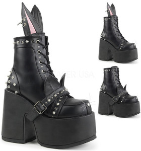 Ankle Boots with  Bunny or Cat Ears and Nose with  Whiskers  by Demonia