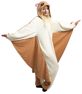 Adult Size Flying Squirrel Kigurumi Onesie