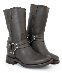 Road Warrior - Nightrider Harness Boots in Brown
