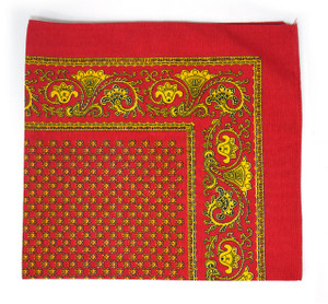 Classic Pattern Bandana - Red and Gold 3