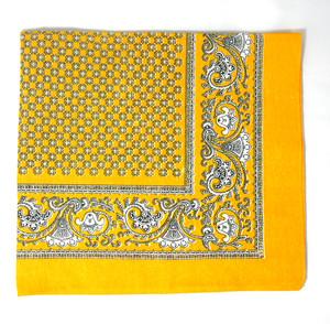 Classic Pattern Bandana - Yellow