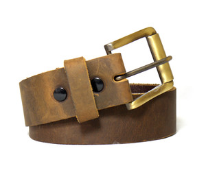 Smooth Light Brown Leather Belt