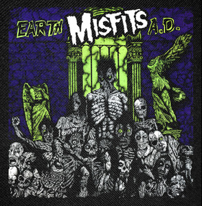 """Misfits - Earth A.D. Backpatch 14x14"""""""