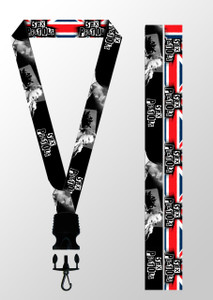 Sex Pistols - UK Flag & Cid Vicious Lanyard