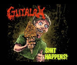 """Gutalax - Shit Happens! 4x4"""" Color Patch"""