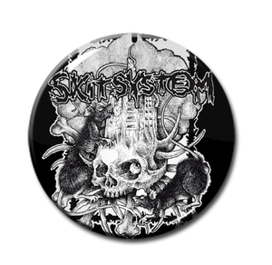 "Skitsystem - Skull and Rats 1"" Pin"