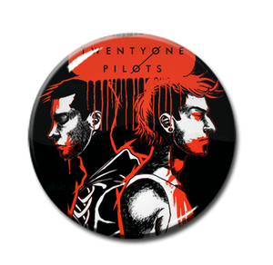 "Twenty One Pilot By Ela Raczyk  1"" Pin"