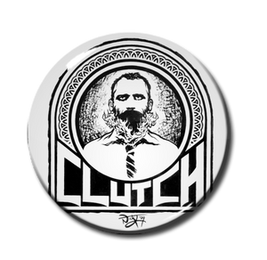 "Clutch - Burning Beard 1"" Pin"